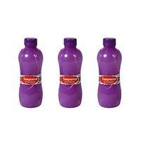 Temptation Round Fridge Bottles Set Of 3 Violet