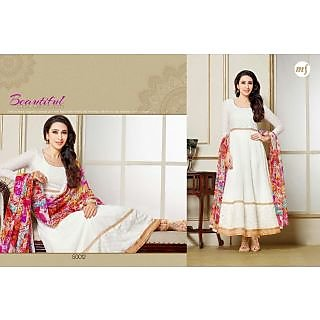 Designer Georgette Embroidery And Hand Work Semi Stitched Suit -50012