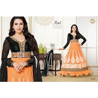 Designer Georgette Embroidery And Hand Work Semi Stitched Suit -50010