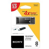 Sony USB 3.0 4X Faster 8 GB Pen Drive (Black)