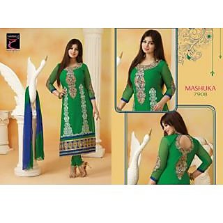 Desingar Cotton Embroidery Top With Cotton Bottom And Chiffon Dupatta-7908