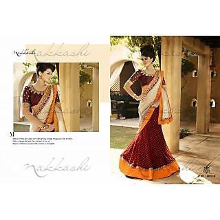 Nakkashi Designer Saree Deepika STyle White Saree