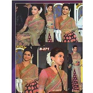 Bollywood Replica - Deepika Padukone Pink Bollywood Style Saree- 311 (CM-Vol-8)