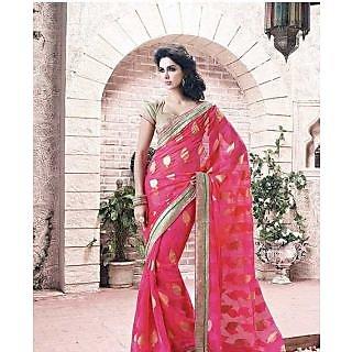 Pink Bright Colour Saree - 74946030