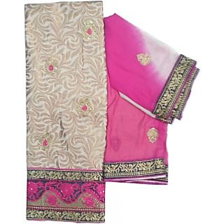 Bansal Collection Premium Quality Cotton Chanderi Embroidered Suit (Pink)