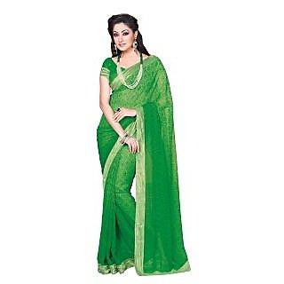 Colors Fashion Green Chiffon Latest Designer Fancy Printed Saree
