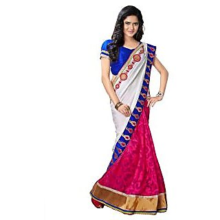 Tamanna Ronak RANI  Net Brasso  Stylish Printed Saree.