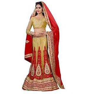 Colors Fashion Betch Cream Net Latest Designer Party Wear Wedding Lehenga Choli