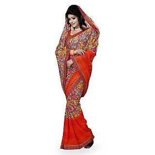 Vatsal Silk Mills Printed Saree With Border