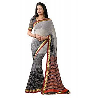 AASRI Party Wear Georgette Printed Multicolour Saree 852