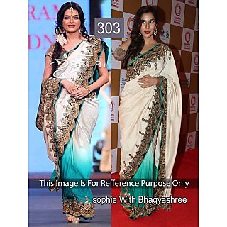 Moni Fashion In The Mainstream Designer Party Wear Embroided Saree