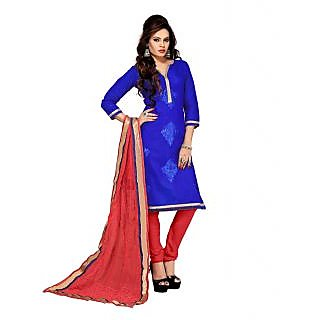 Ethnic Blue Straight Salwar Kameez