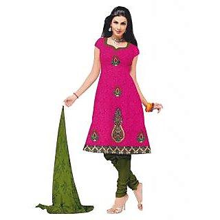 Exclusive Designer Pink Dress Material