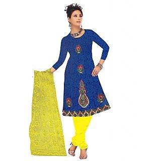 Exclusive Designer Blue Ebbroidered Dress Material