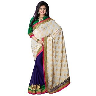 Tamanna Ronak Beidge VISCOSE  Stylish Printed Saree.