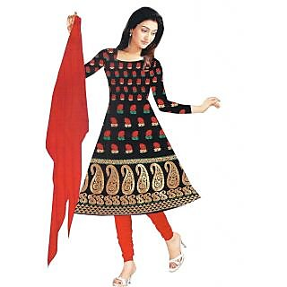 Exclusive Designer Red Banarasi Dress Material