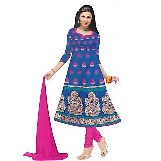 Exclusive Designer Blue Banarasi Dress Material