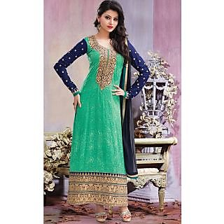 Bonitto Embroidered Green Party Salwar Kameez For Women_REF3104