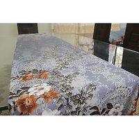 Purple Floral Runner - Designer, Fine Digital Print On Pure Cotton Satin Fabric