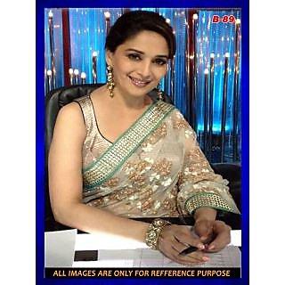 Bollywood Replica - Madhuri Dixit White + Golden Saree