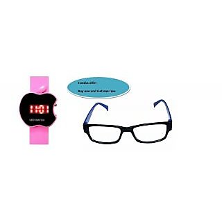 Led Digital Watch With Sunglasses For Kids (Buy One & Get One Free Combo Offer )