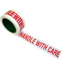 """Handle With Care Tape 2"""" Wide / 65 Mtr Pack (6pcs)"""