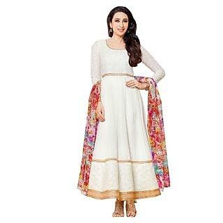 Karishma Kapoor White Designer Embroidered Anarkali Suit JN1109