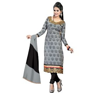 Grey And Black Fabulous And Glorious Salwar Suit