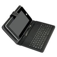 7 Inch USB Keyboard Leather Black Case Cover For Tablet - 75000598