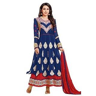 Karishma Kapoor Designer Navy Blue Floor Length Anarkali Suit JN1102
