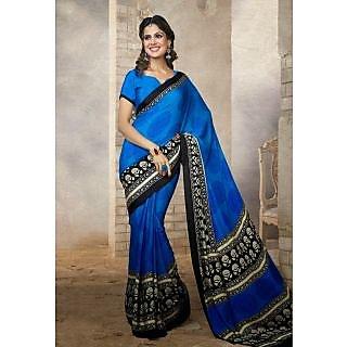 Silk  Blue Saree - 75001780
