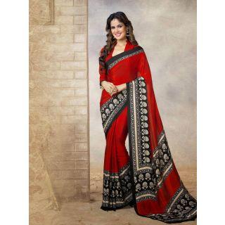 Silk  Red Saree