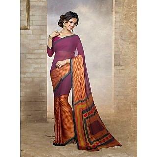 Silk  Magenta Saree
