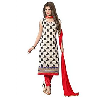 New Designer And Party Wear Red And White Salwar Suit
