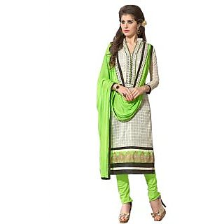 New Fashion Light Green And Off White Designer Salwar Suit