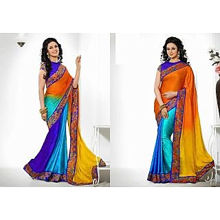 Jacquard Crepe Multi Colour Saree