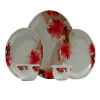 Czar Dine Smart Aarkay 24 Pcs Dinner Set- Pink Flower