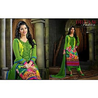 Designer Green Chiffon Salwar Kameez
