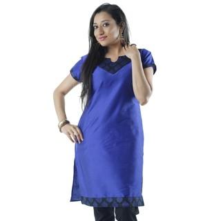 Beautiful Cotton Blue Women Casual Kurti HIFI23BLUS
