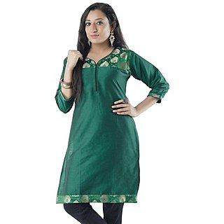 Cotton Green Women Casual Kurti HIFI23BLUH