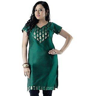 Cotton Green Women Casual Kurti HIFI20GRNH