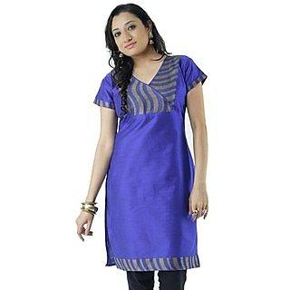 Amiable Cotton Blue Women Casual Kurti HIFI23BLUS