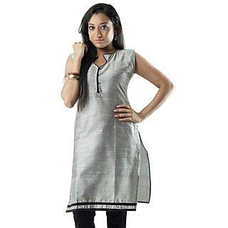 Cotton Grey Women Casual Kurti HIFI26GRYS