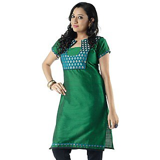 Cotton Green Women Casual Kurti HIFI29GRNH