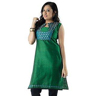 Cotton Green Women Casual Kurti HIFI29GRNS
