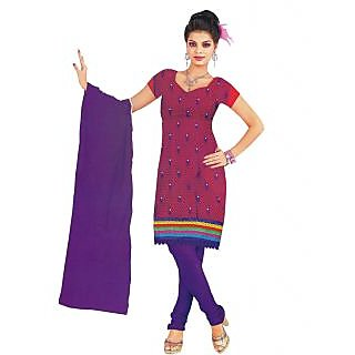 Exclusive Designer Red Fancy Dress Material