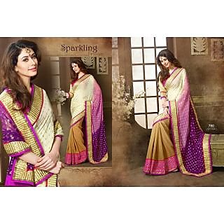 Desirable Resham And Patch Work Designer Saree