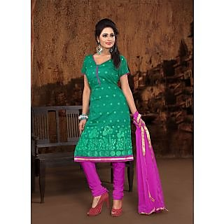 Vastrani Sea Green & Pink Coloured  Salwar Kameez 192D1001