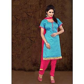 Vastrani Blue & Red Coloured  Salwar Kameez 192D1004