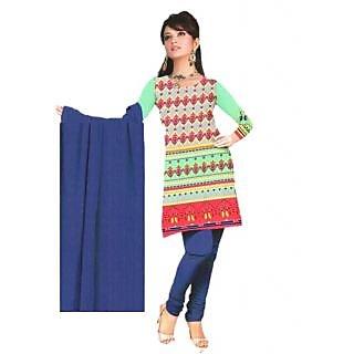 BK Fashion Crepe Printed Dress Material